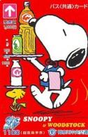 Carte Prépayée  Japon * CARTOON * CHIEN * SNOOPY (486) BD COMICS * DOG Japan PREPAID CARD * HOND * HUND - Stripverhalen