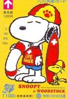 Carte Prépayée  Japon * CARTOON * CHIEN * SNOOPY (489) BD COMICS * DOG Japan PREPAID CARD * HOND * HUND - Stripverhalen