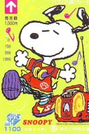 Carte Prépayée  Japon * CARTOON * CHIEN * SNOOPY (500) BD COMICS * DOG Japan PREPAID CARD * HOND * HUND - Comics