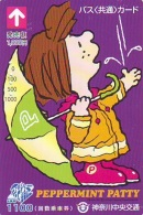 Carte Prépayée  Japon * CARTOON * CHIEN * SNOOPY (502) BD COMICS * DOG Japan PREPAID CARD * HOND * HUND - Comics