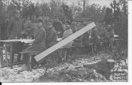 20/12/1917 Toges Tablée D'officiers Allemands Retour D'une Partie De Chasse Aux Renards Trophées 1 Carte Photo 14-18 Ww1 - War, Military