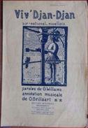 NIVELLES - Partition Musicale Air National Aclot Viv' Djean Djean - Partitions Musicales Anciennes