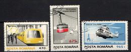 ROMANIA - 1995 - TRASPORTI IN ROMANIA: LA METROPOLITANA DI BUCAREST - LA FUNIVIA DI BRASOV - ELICOTTERO CIVILE - USATI - Gebraucht