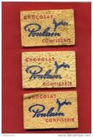 LOT 3 EPONGES PUBLICITAIRES CHOCOLAT POULAIN CONFISERIE EN SUPERBE ETAT - Autres Collections