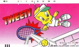 Télécarte Japon * CARTOON * TWEETY  (52)  BD COMICS * JAPAN PHONECARD * TELEFONKARTE - Stripverhalen