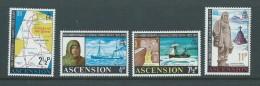 Ascension 1972 Shackleton Antarctic Explorer Set Of 4 MNH - Ascension