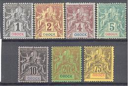 Obock: Yvert N°32/43*/(*) - Unused Stamps