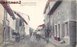 AMANCE LA GRANDE RUE LA LORRAINE DEVASTEE 54 - France