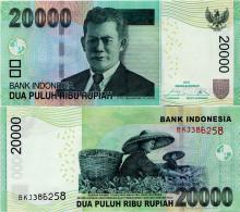 INDONESIA        20,000 Rupiah      P-151[f]       2016/2004   UNC [ 20000 ] - Indonesia