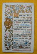 FIN XIXè IMAGE DE MISSEL Bouasse Pl 3308 Communion 1887  ENLUMINURE & TEXTE  / HOLY CARD / SANTINO - Andachtsbilder