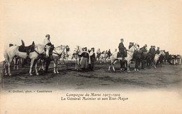 74Db  Maroc Campagne 1907/1909 Le General Moinier Et Son état Major En TBE - Sonstige