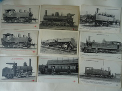 LOT DE + DE 200 CPA -CARTES PHOTOS   TRAINS FRANCAIS ET ETRANGERS;