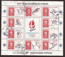 FRANCE - ALBERVILLE 1992 - 16ème Jeux Olympiques BF 14 - Sheetlets