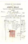 Facture Joseph Bolle à Court-Saint- Etienne Vitrages En Tous Genres PR4448 - 1900 – 1949