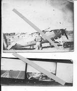 Tarbes 1920 Avion Morane Saulnier Ailes Parasol Et Son Pilote 2 Photos Aviation - Aviation