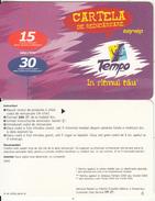 MOLDOVA - Tempo By Voxtel Prepaid Card(paper) 15/30 Min, Sample