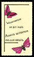 EINE 24 OKT 1944 ZELFGEMAAKTE MENU - WELGEKOMEN IN DIT HUIS PLAATS GENOMEN NA EEN KRUIS    - ZIE 3 AFBEELDINGEN - Menus
