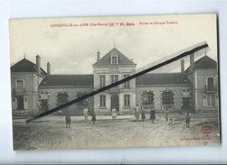 CPA  -  Longeville Sur Aine (Hte Marne ) - Mairie Et Groupe Scolaire - Autres Communes