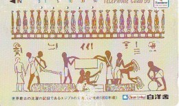 Télécarte Japon Egypte (292) SPHINX (110-97774) PYRAMIDE * TELEFONKARTE EGYPT Related - Ägypten Phonecard Japan * - Paisajes