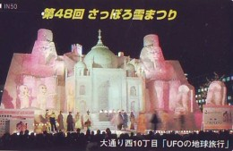 Télécarte Japon Egypte (297) SPHINX * PYRAMIDE * TELEFONKARTE EGYPT Related - Ägypten Phonecard Japan * - Landschappen