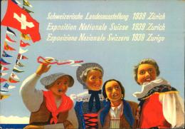 1939, Sonderkarte Zur Schweizerischen Landesausstellung Mit Sonderstempel - Suisse