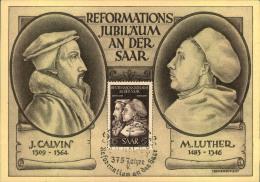 """LUTHER, KIRCHE, Religion, Sonderkarte """"""""375 Jahre Reformation An Der Saar"""""""" - Christianity"""