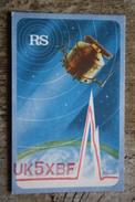 QSL - OLD Postcard USSR - Space RADIO AMATEUR - RS  -  1970S  - RADIO PC Space - SPUTNIK - Spazio
