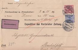 DR NN-Brief Mif Minr.47,48 Karlsruhe 15.10.95 Ankunftsst KOS Michelfeld (Baden) 16.10.95 - Briefe U. Dokumente