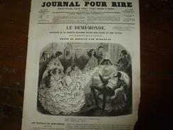 1855 Gravures:LE DEMI-MONDE ,Histoire De La Chaste Suzanne Entre Son Passé-futur Et Prologue Sur Les Fauteuils;BÊTISANA - Vieux Papiers