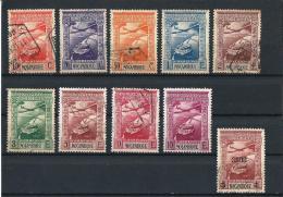 MOZAMBIQUE 04) 1938 POSTA AEREA Serie Cpl 10 Val.used E Mlh - Mozambique