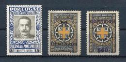 MOZAMBIQUE 06) 1925-30 Postal TAX 3val MLH - Mozambique