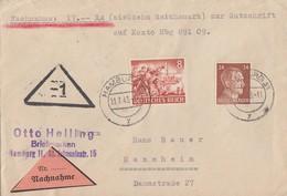 DR NN-Brief Mif Minr.792,835 Hamburg 22.7.43 - Briefe U. Dokumente