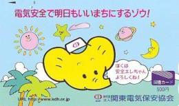 Carte Prépayée Japon * ELEPHANT (1986)  ELEFANT * OLIFANT * ELEFANTE * Japan Prepaid Card * KARTE * ZOO - Oerwoud