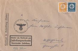 DR Dienst Zustellurkunde Mif Minr.D133, D143 Rotenburg 19.9.40 - Dienstpost
