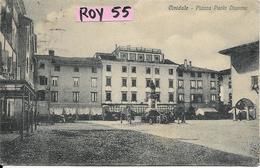 Friuli Venezia Giulia-udine- Cividale Piazza Paolo Diacono Bella Veduta Animata Primi 900 - Andere Steden