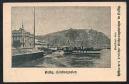 A2953 - Alte Ansichtskarte - Aussig Ústí Nad Labem - Landungsplatz Elbeschifffahrt -  Dampfer - Boehmen Und Maehren