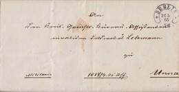 Preussen Brief Hufeisenstempel Berlin 26.5.65 Gel. Nach Unna Mit Inhalt - Preussen
