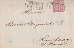 NDP Brief EF Minr.16 R2 Wesel 12.3. - Norddeutscher Postbezirk