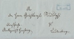 Hannover Brief Blauer R2 Herzberg 27.9. Gel. Nach Lauterberg 27.9. - Hannover