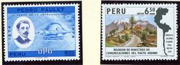 1974 - PERU  - Mi. Nr.  981+990 - NH - (CW2427.30) - Peru