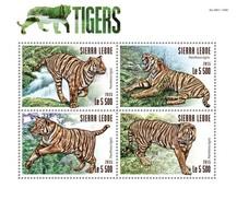 SIERRA LEONE 2015 SHEET TIGERS TIGRES WILD CATS FELINS FELINES FELINOS FELINI RAUBKATZEN WILDLIFE Srl15317a - Sierra Leone (1961-...)