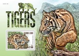 SIERRA LEONE 2015 SHEET TIGERS TIGRES WILD CATS FELINS FELINES FELINOS FELINI RAUBKATZEN WILDLIFE Srl15317b - Sierra Leone (1961-...)