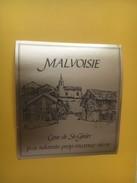 3947 - Malvoisie Cave De St-Ginier Valais  Suisse - Etiquettes
