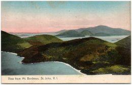 SAINT-THOMAS - View From Mt. Bordeaux, St. John, V.I.  (Recto/Verso) - Vierges (Iles), Britann.