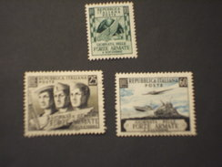ITALIA - 1952 FORZE AEMATE 3 VALORI - NUOVO(++) - 6. 1946-.. República
