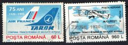 ROMANIA - 1995 -  ACCORDO AERONAUTICO TRA FRANCIA E ROMANIA - 75° ANNIVERSARIO  - USATI - Gebraucht