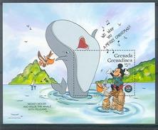 MycD450 *SPECIAL* WALT DISNEY MICKEY WILLIE THE WHALE PELIKAAN WALVIS VOGEL BIRDS PELICAN GRENADA GRENADINES 1986 PF/MNH - Disney