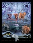 GUINEA 2012 SHEET ENDANGERED WEST AFRICAN ANIMALS ELEPHANTS ELEFANTEN ELEFANTES ELEFANTI WILDLIFE Gu12211b - Guinea (1958-...)