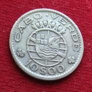 Cape Verde 10 Escudos 1953 Cabo Verde - Cape Verde