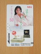 Japon Japan Free Front Bar, Balken Phonecard - 110-2049 / Women, Frau, Femme / NEC - Japan